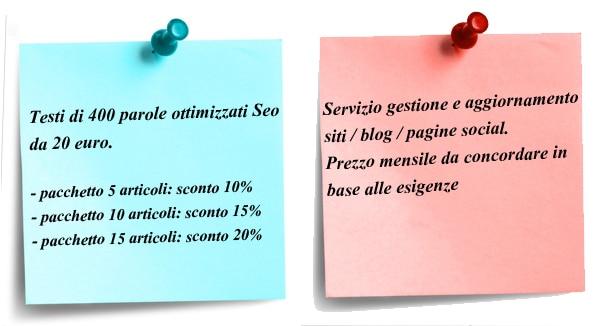 prezzi servizio web writing