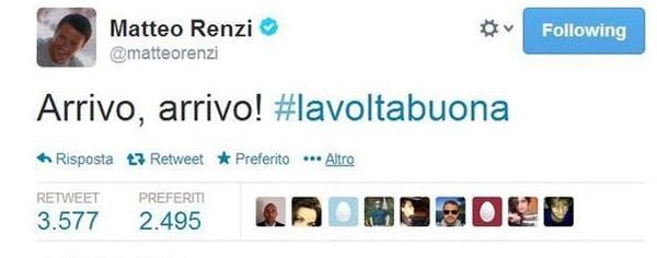 hashtag renzi