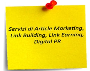 servizio article marketing