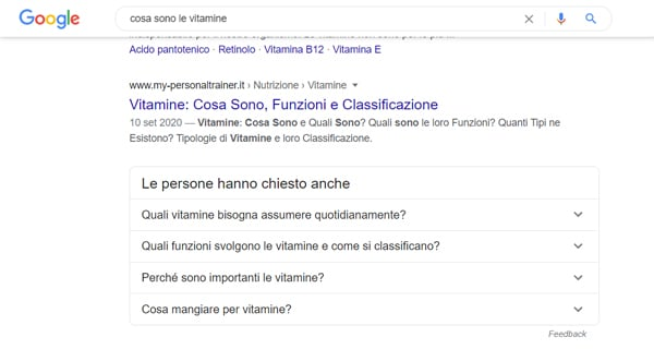 Risposte dirette di Google